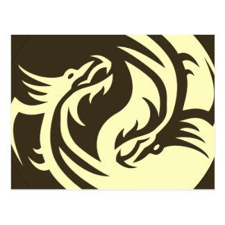 種族のドラゴンの陰陽(それを個人化して下さい!) ポストカード