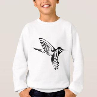 種族のハチドリのシルエット スウェットシャツ