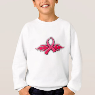 種族のピンクのリボン スウェットシャツ