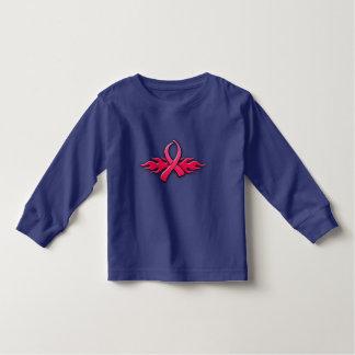 種族のピンクのリボン トドラーTシャツ