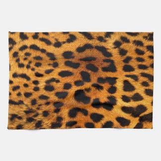 種族のファッショニスタサファリの動物のヒョウのプリント キッチンタオル