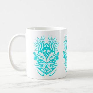 種族のヘッド青緑色 コーヒーマグカップ