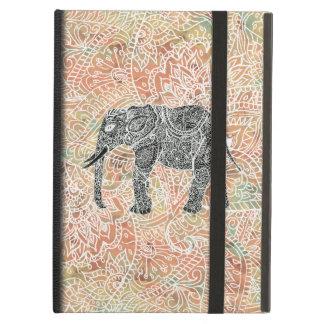 種族のペイズリー象のカラフルなHennaパターン iPad Airケース