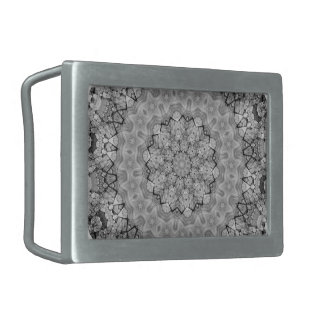 種族のボヘミアの目まぐるしく幾何学的な曼荼羅 長方形ベルトバックル
