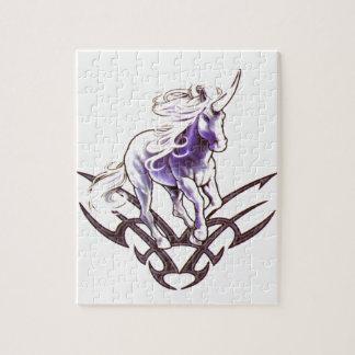 種族のユニコーンの入れ墨のデザイン ジグソーパズル