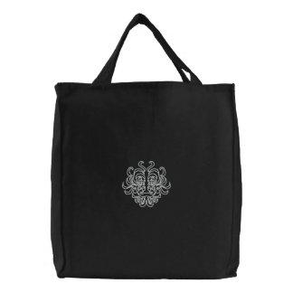 種族の偶像によって刺繍されるバッグ 刺繍入りトートバッグ