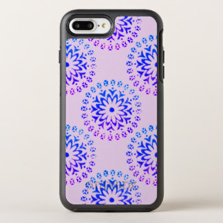 種族の円の曼荼羅の紫色インク オッターボックスシンメトリーiPhone 8 PLUS/7 PLUSケース