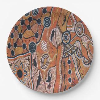 種族の土地の地球の紙皿9つ ペーパープレート