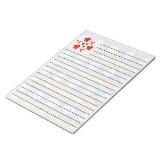 種族の多彩なパターン ノートパッド