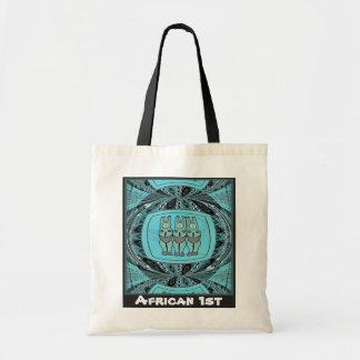 種族の女性の彫像- Aftricanの芸術 トートバッグ