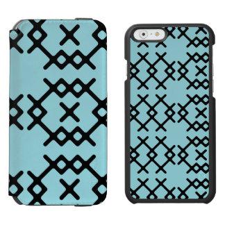 種族の島の楽園の青い遊牧民の幾何学的な形 INCIPIO WATSON™ iPhone 5 財布型ケース
