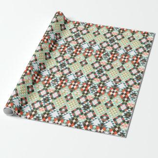 種族の幾何学的でアステカなパターンCBendel ラッピングペーパー