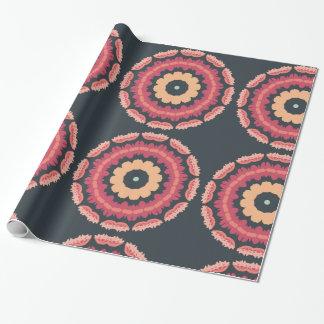 種族の幾何学的な花のギフトの包装紙 ラッピングペーパー