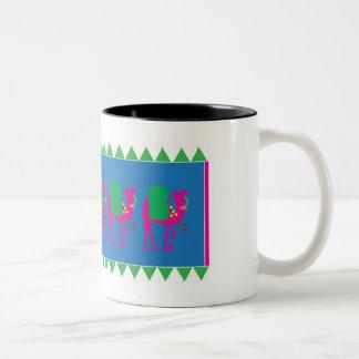 種族の文化的なラクダのマグ ツートーンマグカップ