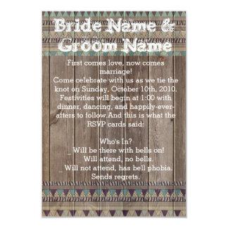 種族の木製の招待 カード