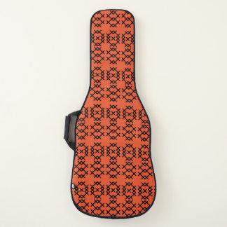 種族の炎のオレンジ遊牧民の幾何学的な形 ギターケース