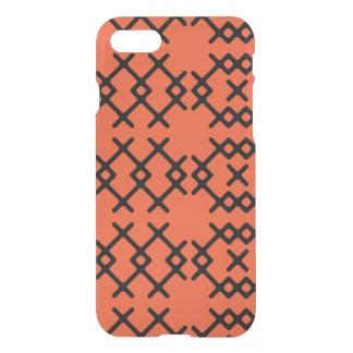 種族の炎のオレンジ遊牧民の幾何学的な形 iPhone 7ケース