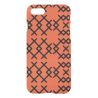 種族の炎のオレンジ遊牧民の幾何学的な形 iPhone 8/7 ケース