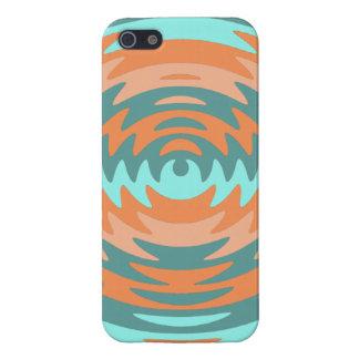 種族の珊瑚の水は鋸歯のさざ波の波を iPhone 5 CASE