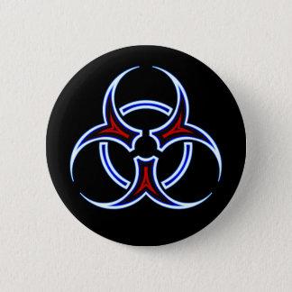 種族の生物学的災害[有害物質]の記号ボタン 5.7CM 丸型バッジ