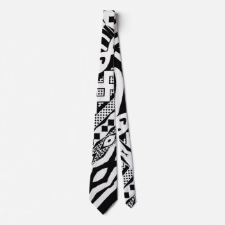 種族の白黒シマウマのパターン(の模様が)あるなタイ カスタムネクタイ