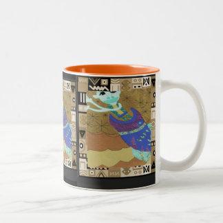種族の精神- Aftricanの芸術 ツートーンマグカップ