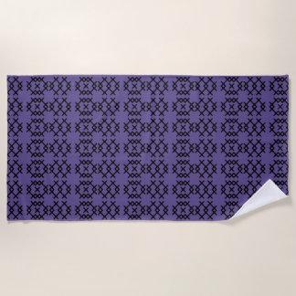 種族の紫外紫色の遊牧民の幾何学的な形 ビーチタオル