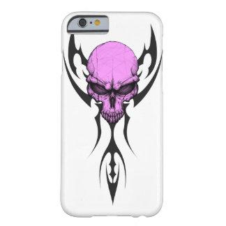 種族の紫色のスカル BARELY THERE iPhone 6 ケース