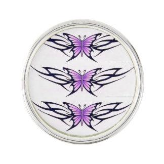 種族の紫色の蝶 ラペルピン