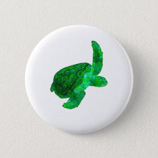種族の緑のウミガメ 5.7CM 丸型バッジ