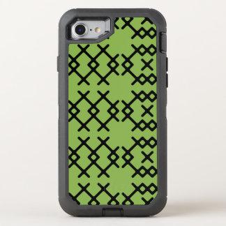 種族の緑の草木は遊牧民の幾何学的な形を緑化します オッターボックスディフェンダーiPhone 8/7 ケース