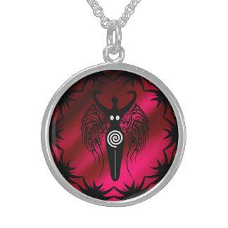 種族の翼の新石器時代の自然の女神! スターリングシルバーネックレス