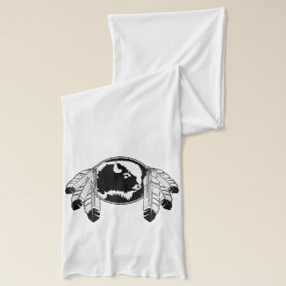 種族の芸術のスカーフのMetisの精神のバッファローのスカーフのギフト スカーフ