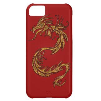 種族の金ゴールドのドラゴンのファンタジーの神話上のiPhoneの場合 iPhone5Cケース