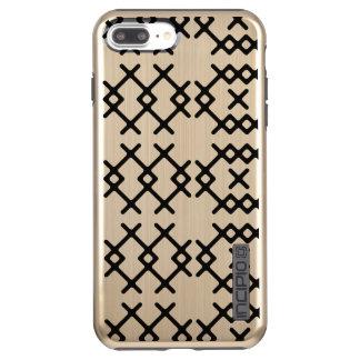 種族の金ゴールドの遊牧民の幾何学的な形 INCIPIO DualPro SHINE iPhone 8 PLUS/7 PLUSケース
