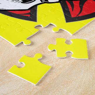 種族の鉄の十字のスカルのジグソーパズル ジグソーパズル