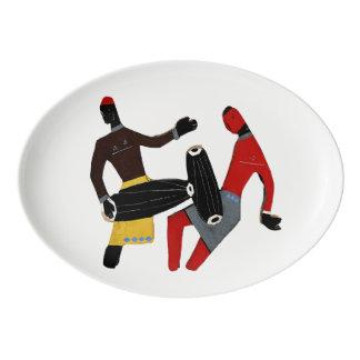 """種族の13""""を踊りますx 9.25""""磁器のクーペの大皿 磁器大皿"""