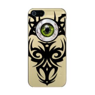 種族の、緑の大理石の目 メタリックiPhone SE/5/5sケース