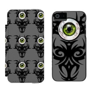 種族の、緑の大理石の目 INCIPIO WATSON™ iPhone 5 財布 ケース