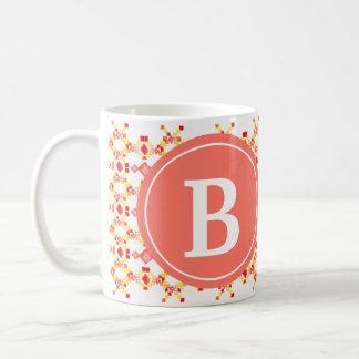 種族のBohoのファッションのマグのモノグラム コーヒーマグカップ