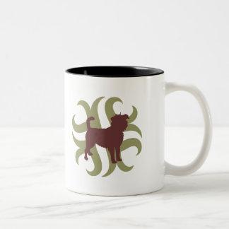 種族アーフェンピンシャー ツートーンマグカップ