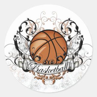 種族バスケットボール ラウンドシール
