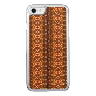 種族パターンデザインの秋の地球の調子 CARVED iPhone 8/7 ケース