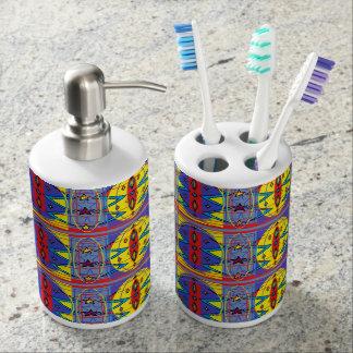 種族パターン浴室セット バスセット