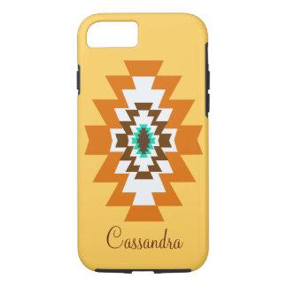 種族南西アステカで黄色いネイティブアメリカン iPhone 8/7ケース