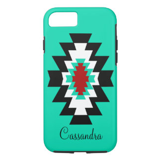 種族南西アステカなターコイズのネイティブアメリカン iPhone 8/7ケース