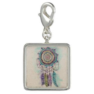 種族手のペンキのdreamcatcherの曼荼羅のデザイン チャーム
