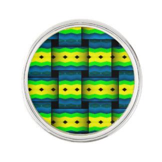 種族抽象的なパターンを編みます ラペルピン