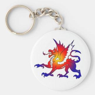 種族色のドラゴンKeychain キーホルダー