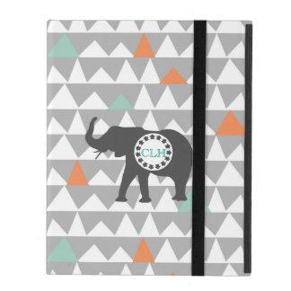 種族象のアステカなアンデスパターンモノグラムの名前 iPad ケース